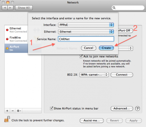 PPPoE Connector (free version) download for Mac OS X